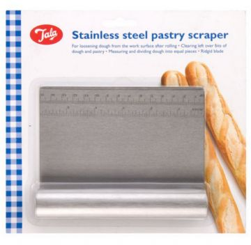 Tala Pastry Dough Cutter Scraper with Measure Stainless Steel Bread